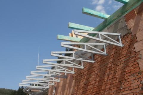Ocelová konstrukce střechy