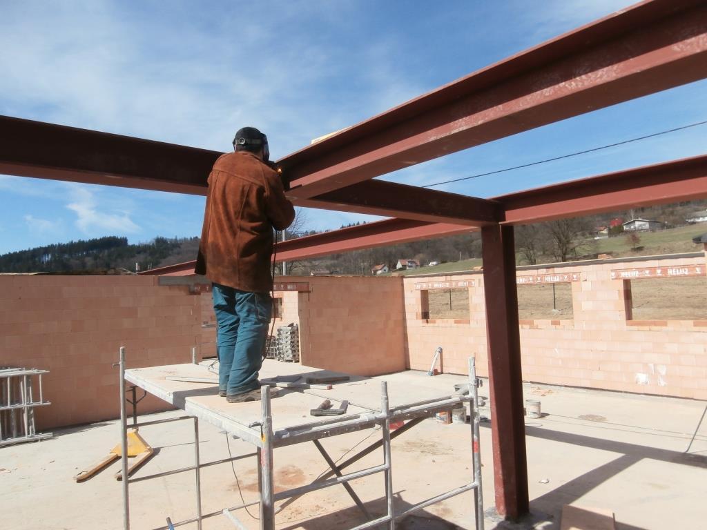 Ocelová konstrukce stropu GNP Vsetín