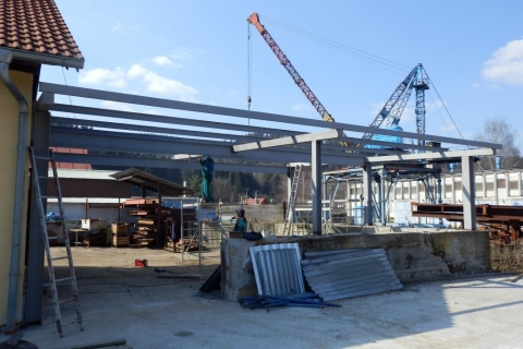 Ocelová konstrukce skladu Ústí