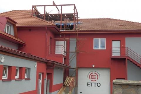 Ocelová konstrukce nástavby ETTO
