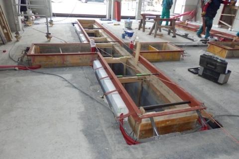 Konstrukce montážní jámy STK