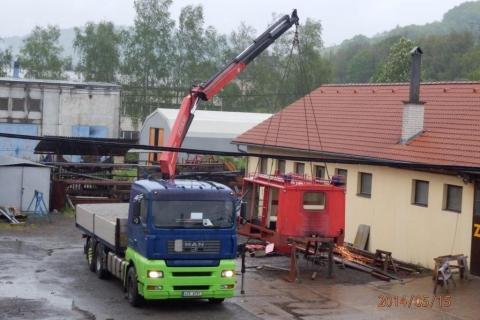 Odvoz nástavby hasičské avie