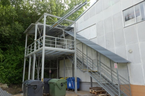 Konstrukce rampy a jeřábové dráhy Vsetín