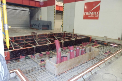 Armování základů Trimill